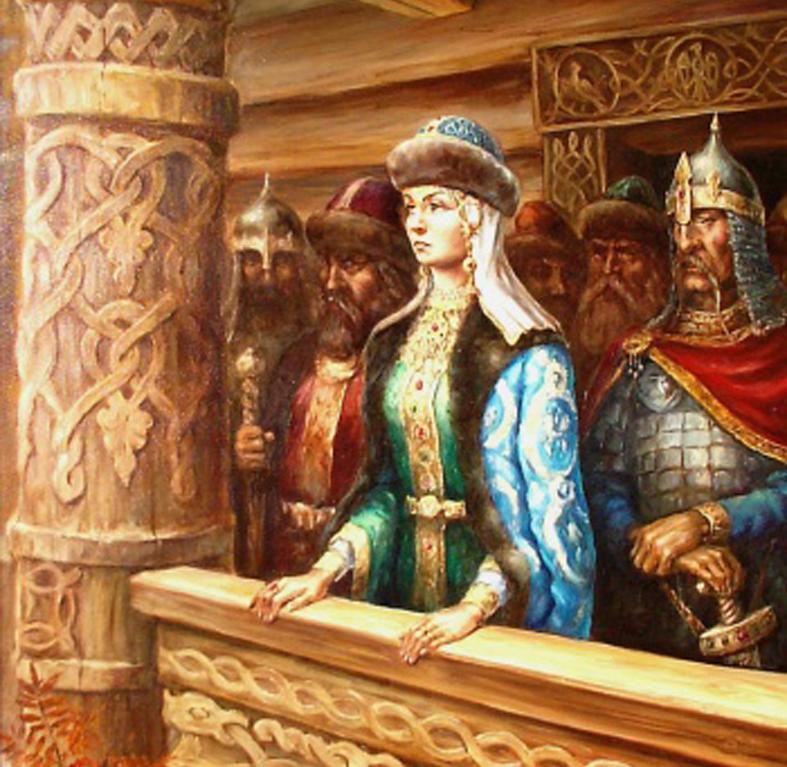 Княгиня Ольга, древняя Русь, славянские праздники