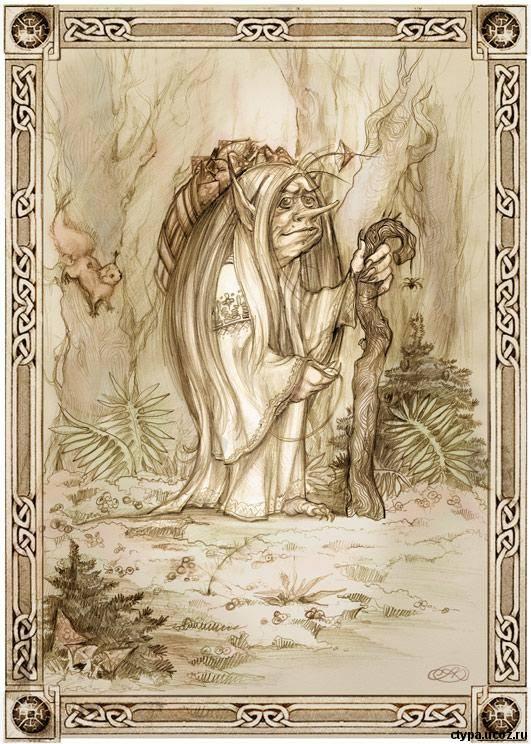 Кикимора в мифологии славян, навьи духи русских сказок, сказочные персонажи