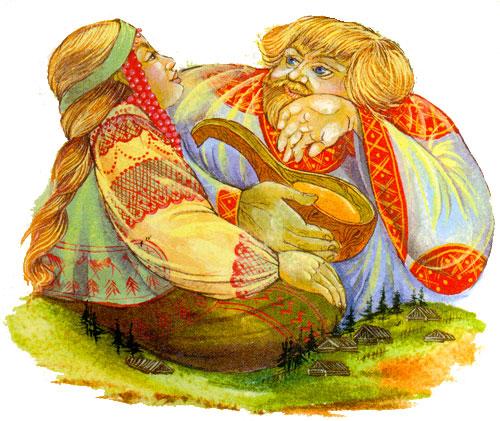 Русские великаны и Богатыри, мифологические славянские персонажи
