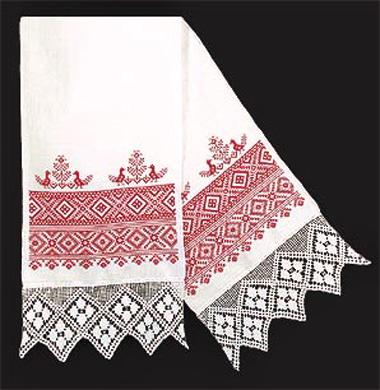рушник, свадебное полотенце, обереговые символы славян